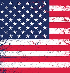 Grunge american flag background 1606 vector
