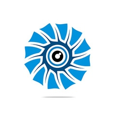 Abstract logo eye circle eyeball symbol vector