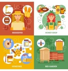 Beekeeping design concept vector