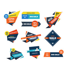 Black friday sale and discounts labels vector