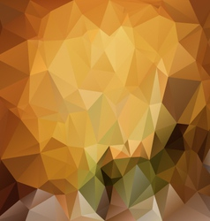 Brown yellow polygonal triangular pattern vector