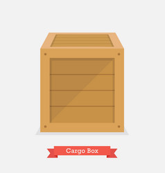 Cargo wood box vector