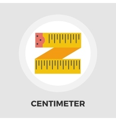 Centimetr flat icon vector image