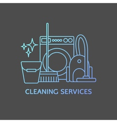 Cleaning logo elements vector