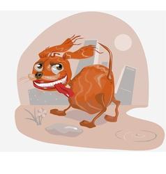 crazy dog vector image vector image