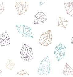 Crystals - seamless hand drawn pattern vector image vector image