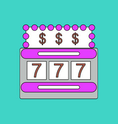 Flat icon design collection jackpot machine casino vector
