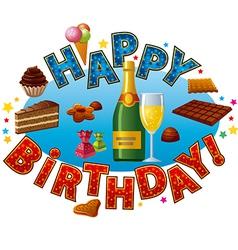happy birthday sweet vector image vector image