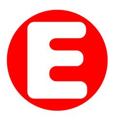 letter e sign design template element vector image