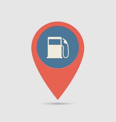 Map pin fuel station vector