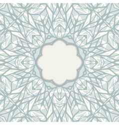 Mosaic ornamental frame abstract background vector