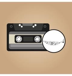 Music cassette vintage background desgin vector