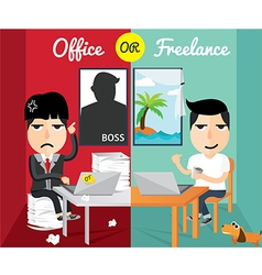 Office or freelance vector
