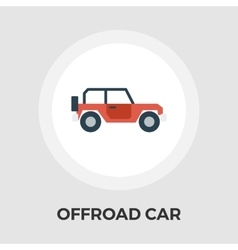 Offroad car flat icon vector