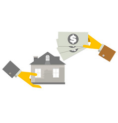 property investment concept house and real estate vector image vector image