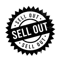 Sell out rubber stamp vector