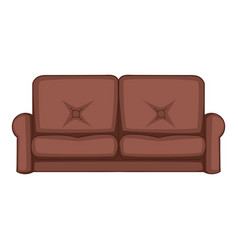 sofa icon cartoon style vector image