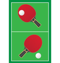 sport game table tennis ping pong vector image vector image