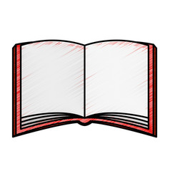 text book isolated icon vector image