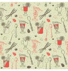 Vintage hand drawn pattern vector image vector image