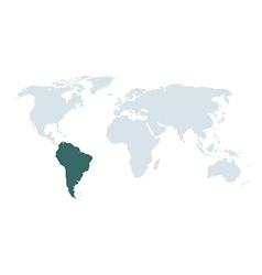 World map south america vector