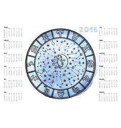 Zodiac signhoroscope circle2016 year vector