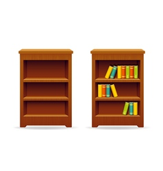 Library bookcase education and knowledge vector