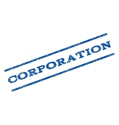 Corporation watermark stamp vector