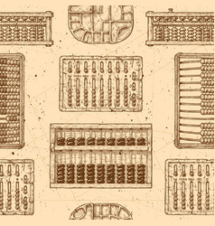 pattern with different abacus vector image