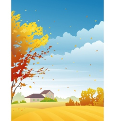 Rural autumn day vector