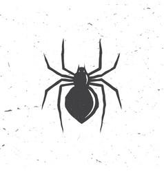 Spider silhouette in retro style vector