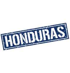 Honduras blue square stamp vector