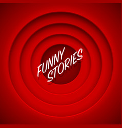 Screen movie funny stories red background vector