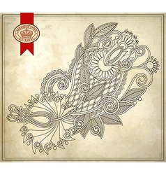 Ornamental floral pattern with place for your text vector