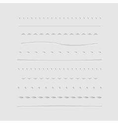 Dividers collection vector