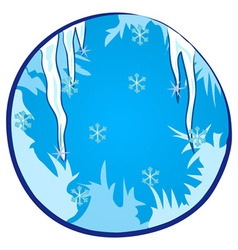 Winter season window vector