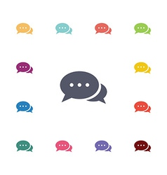 Chat flat icons set vector