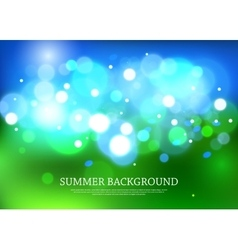 Summer magical background with blurred bokeh vector