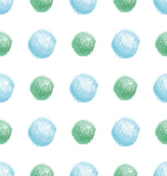 Simple bright seamless pattern of green and blue d vector