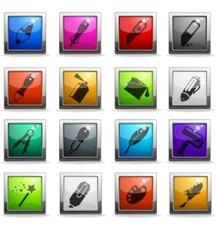 Design tools icons vector