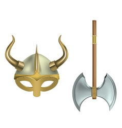 Viking equipment vector