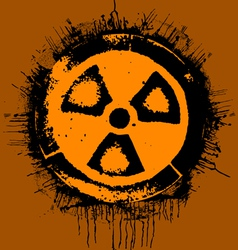 Grunge radioactivity warning sign vector