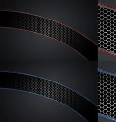 Automotive grill background set vector