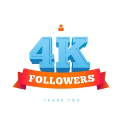 Thanks design for network friends followers and vector