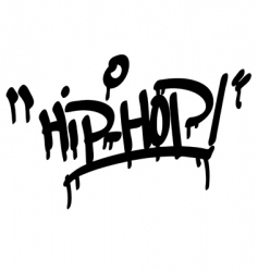 Hip hop type vector