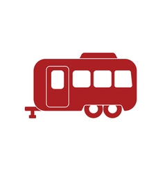 Camping trailer icon vector