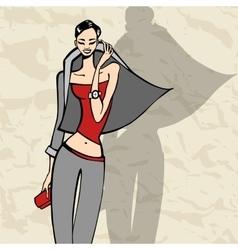 Beautiful Fashion woman vector image vector image