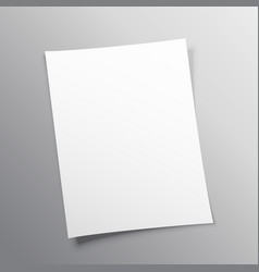 Blank paper mockup design vector