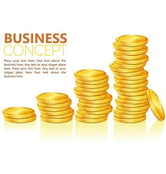 business coins vector image vector image