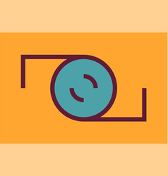 camera logo vector image